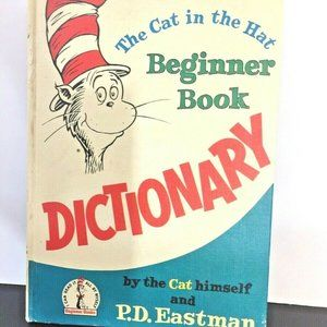 Vintage The Cat in the Hat Beginner Book Dictionar